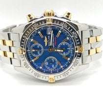 Breitling Two Tone Blue And Gold Cockpit Chronograph B13358