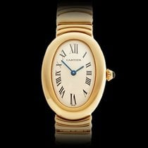 Cartier Baignoire Original Diamonds 18k Yellow Gold Ladies 1954