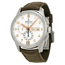 Zenith Captain Winsor Chronograph White Dial Brown Leather...