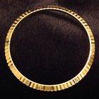Rolex Oyster Perpetual 18k Yg Gold Fluted Bezel