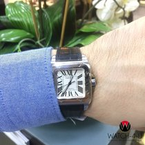 Cartier Santos 100 2878 Automatic Square White Dial 34mm