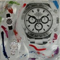 Rolex tableau peinture pop art artiste pyb la daytona