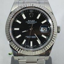 Rolex Datejust II steel/white gold bezel 116334