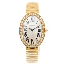 Cartier Bathtub 18k Rose Gold Silver Quartz WB520019