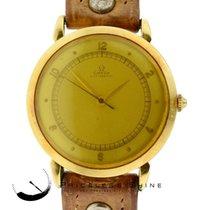 Omega Original Vintage Rare Find Automatic Bumper 18k Yellow Gold