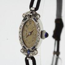 Art Deco Vintage Ladies Watch 950 Platium Diamonds Sapphires...