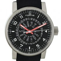 Fortis Spacematic Black-Red Stahl Automatik 40mm
