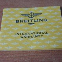 Breitling vintage bentley chronograph Warranty Certificate Papers