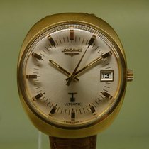 Longines vintage ultronic pink gold plated jumbo size ref...
