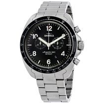 Shinola The Rambler 600 Black Dial Titanium Chronograph...
