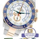 Rolex Yacht-Master II 44mm Two-Tone Rose Gold White Ceramic...