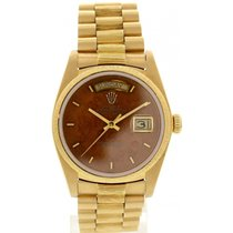 Rolex Men's Rolex Day Date 18K Yellow Gold 18078 Bark Finish