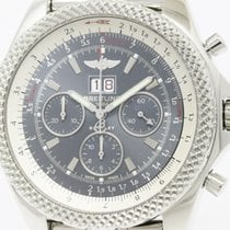 Breitling Polished Breitling Bentley 6.75 Steel Automatic Mens...
