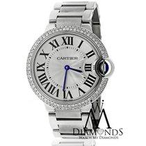 Cartier Ballon Bleu De Cartier Diamond 2 Row Bezel Stainless...