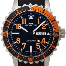 Fortis B-42 Marinemaster Day/Date GMT Automatic Steel Mens...