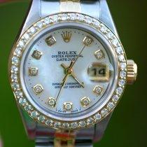 Rolex Ladies 2tone Datejust 18k Diamond Bezel Mop Dial