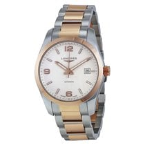 Longines Conquest Classic Stainless Steel and 18k Rose Gold...