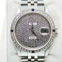Rolex Datejust 16014 Diamond Pave Dial Gents Watch