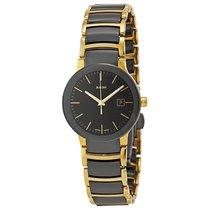 Rado Ladies Centrix Yellow Gold PVD Black Ceramic Watch