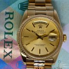 Rolex Day-Date President 18k Yellow Gold Mens Watch & Box...