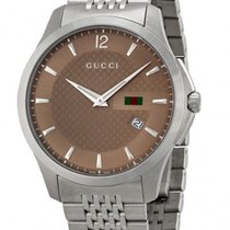 Gucci G-Timeless Brown Dial Stainless Steel YA126310