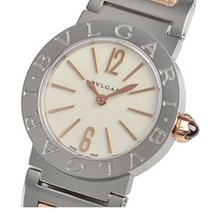 Bulgari White Lacquered Dial Stainless Steel & 18kt Pink...