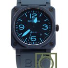 Bell & Ross BR 03 92 Matte Blue Ceramic dial Rubber strap NEW