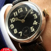 Omega Extemely rare Omega 1rst World war ww1 black dial silver...