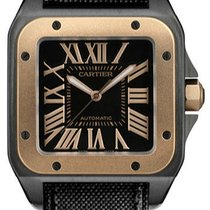 Cartier SANTOS DE CARTIER SANTOS 100 LARGE MENS ROSE GOLD 43MM