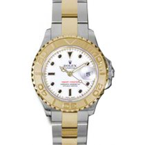 Rolex Yacht-Master 29 169623 White Black Dial Yellow Gold...