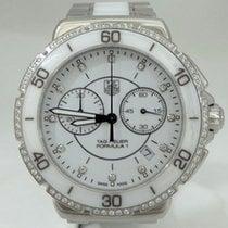 TAG Heuer Formula 1 One White Diamond Steel Ceramic Chronograp...