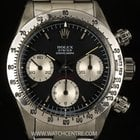 Rolex S/S Black dial Oyster Cosmograph Daytona 6263