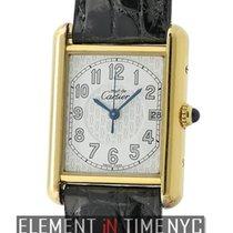 Cartier Must Must Vermeil 18k Yellow Gold Plated 26mm Date...