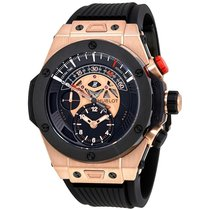 Hublot Big Bang Bi Retrograde King Gold Black Dial Chronograph...