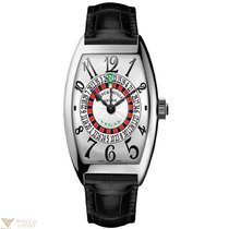 Franck Muller Vegas Limited Edition 18K White Gold Leather...