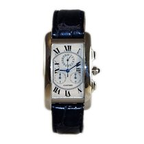 Cartier Tank Americaine Chronograph 18k White Gold Quartz