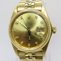 Rolex Dayjust Oyster Perpetual Diamonds Dial 18Carat Gold