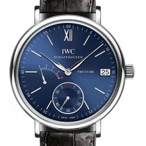 IWC Portofino Hand Wound Eight Days 45mm IW510106 Blue Dial Steel