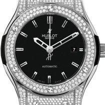 Hublot Classic Fusion 511.NX.1170.LR.1704 Black Index Diamond...