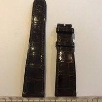 百達翡麗 (Patek Philippe) 20mm x 16mm medium padded brown crocodil...