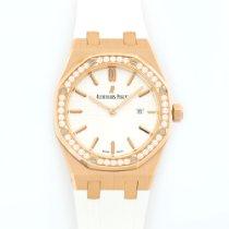 Audemars Piguet Royal Oak Rose Gold Diamond Watch Ref. 67651