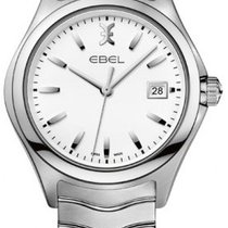 Ebel 1216201 Wave in Steel - on Steel Bracelet with White Dial