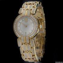 Harry Winston Yellow Gold Premier Diamond Bracelet Watch