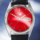 Seiko Vintage Day Date Automatic, Red Dial