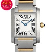 Cartier Tank Francaise Steel & Gold Small