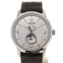 Vulcain 50s Presidents' Moon Phase 42 Silver-toned Dial