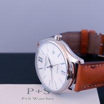 Frederique Constant Classic Silver Dial Tan Leather Men's...