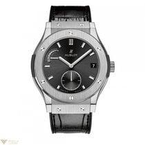 Hublot Clasic Titanium Automatic Leather Men's Watch