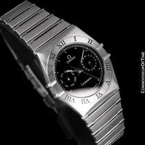 Omega Constellation Mens 35mm Day-Date Watch, Black Dial,...