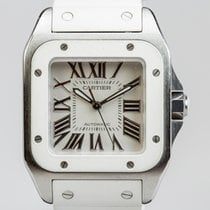Cartier Santos 100 Medium White Rubber